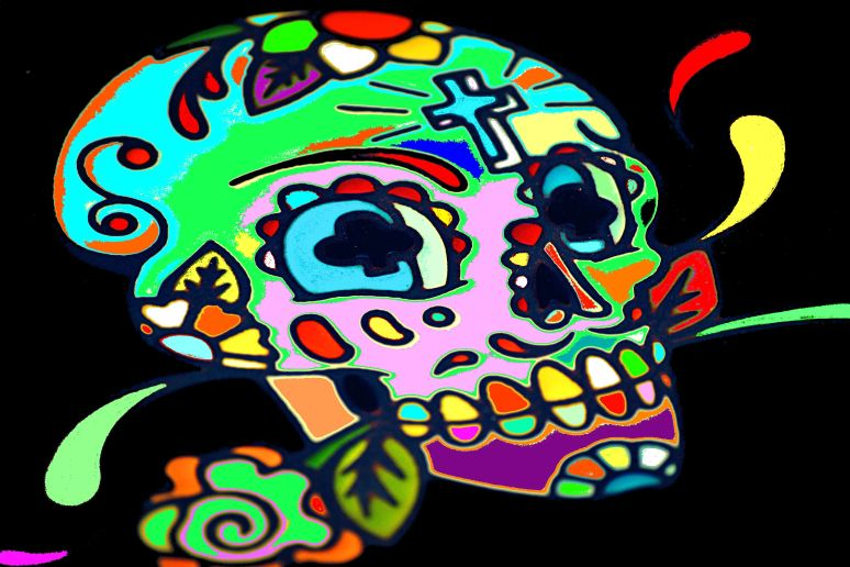The Psychedelic Skull Art