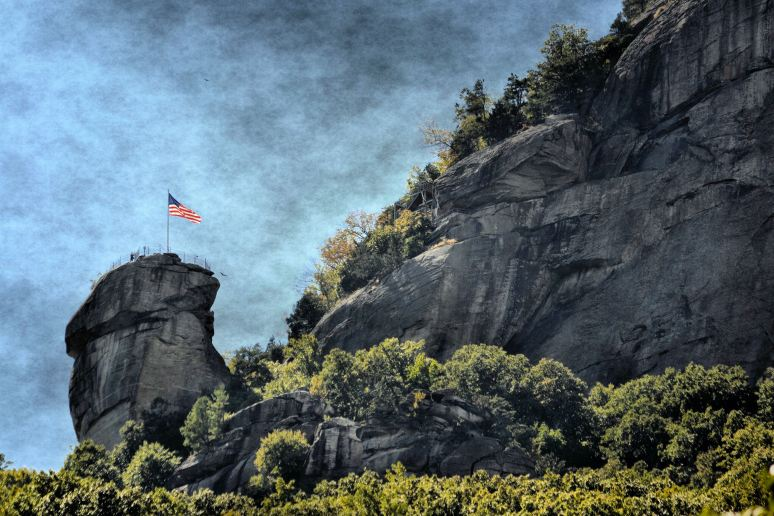 Flag at Chimney Rock