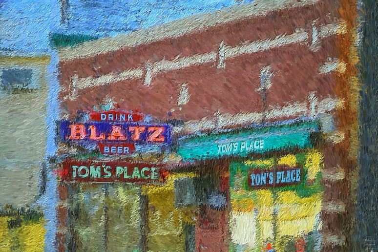 Blatz at Tom's Place Painting