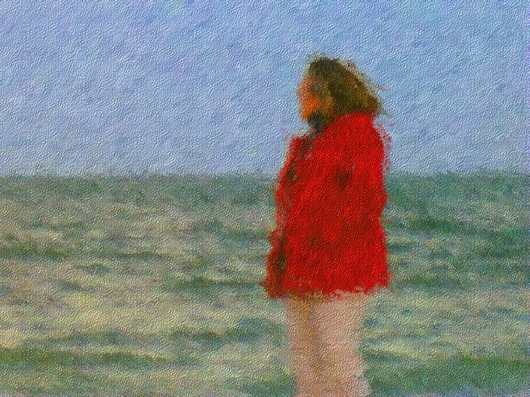 The Red Jacket Painting
