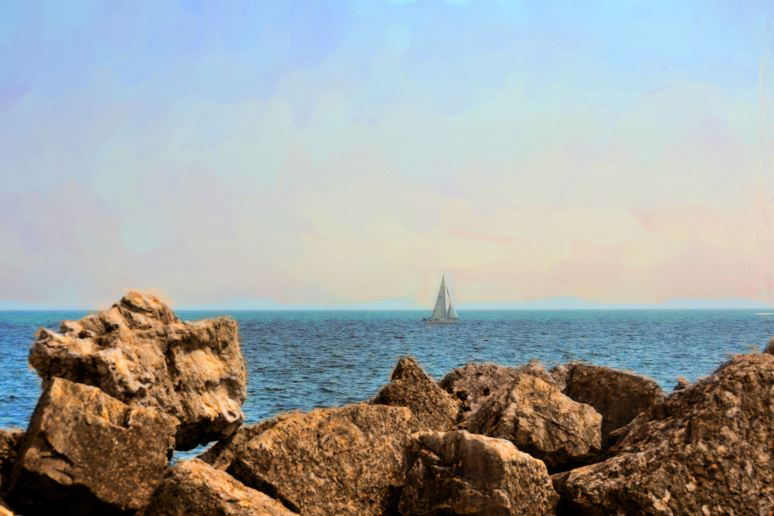 Sailboat on Lake Michigan Art
