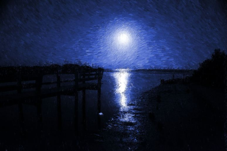 Blue Moon Over Cedar Key